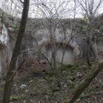 Ostobuż (ukr.Острівок). Wnętrze ruin kaplicy rzymskokatolickiej z fragmentami iluzjonistycznej polichromii z w. XVIII.