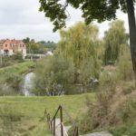 Krechów (ukr. Крехів). Staw klasztorny usytuowany poza murami na terenie dawnego folwarku.